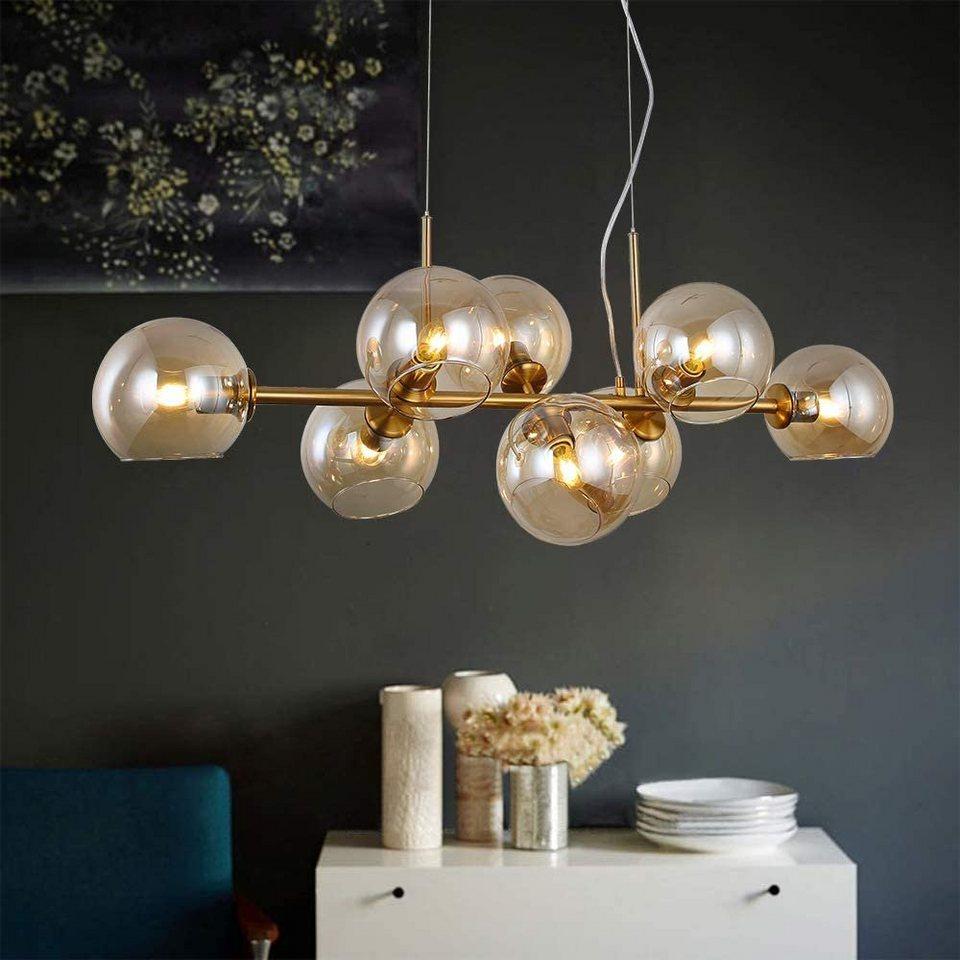 ZMH LED Pendelleuchte »Glas Kugel Leuchte Pendellampe Hängellampe LED  Wohnzimmerlampe Schlafzimmerleuchte Innenleuchte« online kaufen  OTTO