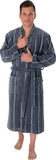 Herrenbademantel »1607«, Wewo fashion, mit Streifen