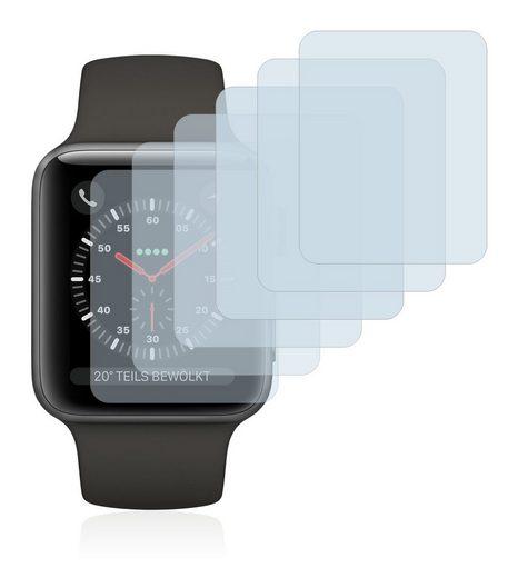 Savvies Schutzfolie »für Apple Watch Series 3 (38 mm)«, (6 Stück), Folie Schutzfolie klar