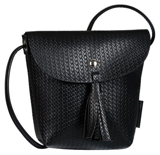 TOM TAILOR Denim Mini Bag »Ida crochet«, In kleinem Format