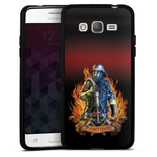 DeinDesign Handyhülle »Firefighter« Samsung Galaxy Grand Prime, Hülle Feuerwehrmann Feuerwehr Beruf