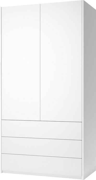 Müller SMALL LIVING Kleiderschrank »Modular Plus Variante 1« Inklusive 3 geräumigen Schubladen