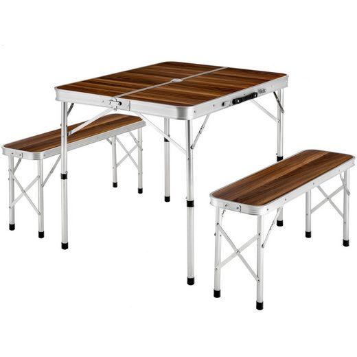 tectake Campingtisch »Koffertisch mit 2 Sitzbänken« (1-St)