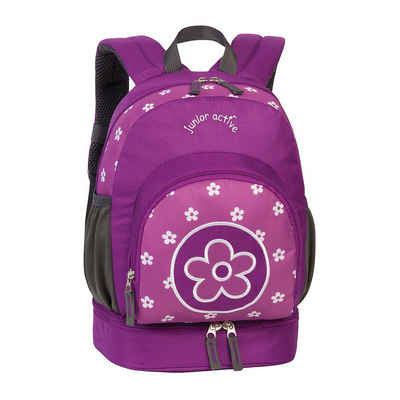 fabrizio® Kindergartentasche »Kinderrucksack Blume lila«