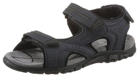 Geox »UOMO SANDAL STRADA« Sandale mit drei Klettverschlüssen