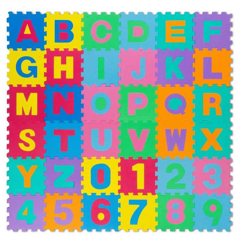 all Kids United Puzzlematte »XXL Kinder-Spielteppich«, 86 Puzzleteile, Buchstaben Spielmatte