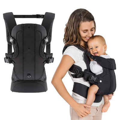 Fillikid Babytrage »Fillikid Babytrage Walk 4in1 - Schwarz«, Ergonomische Kindertrage Bauchtrage
