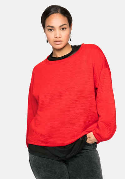 Sheego Sweatshirt in strukturierter Optik