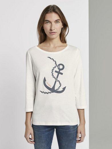 TOM TAILOR T-Shirt »Maritimes Langarmshirt«