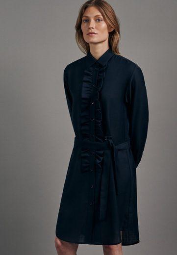 seidensticker Sommerkleid »Schwarze Rose« Langarm Kragen Uni