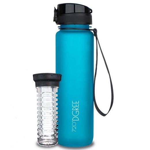 720°DGREE Trinkflasche »uberBottle«, Trinkflasche, Wasserflasche, 1000ml, Auslaufsicher, Sportflasche, für Schule, Sport, Fahrrad, Outdoor, Wandern mit Früchtesieb
