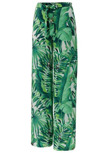 Hosen - Aniston CASUAL Palazzohose mit Kolibris und Palmblättern bedruckt ›  - Onlineshop OTTO