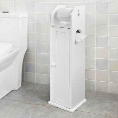 SoBuy Toilettenpapierhalter »FRG135/FRG177«, Freistehend Seitenschrank