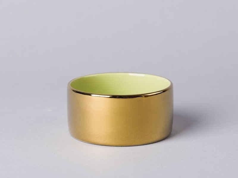 Bloomingville Windlicht »Bloomingville Windlicht Votive gold/grün Keramik«