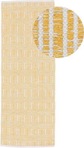 Läufer »Kelim Oregan«, carpetfine, rechteckig, Höhe 5 mm, Wendeteppich aus reiner Baumwolle