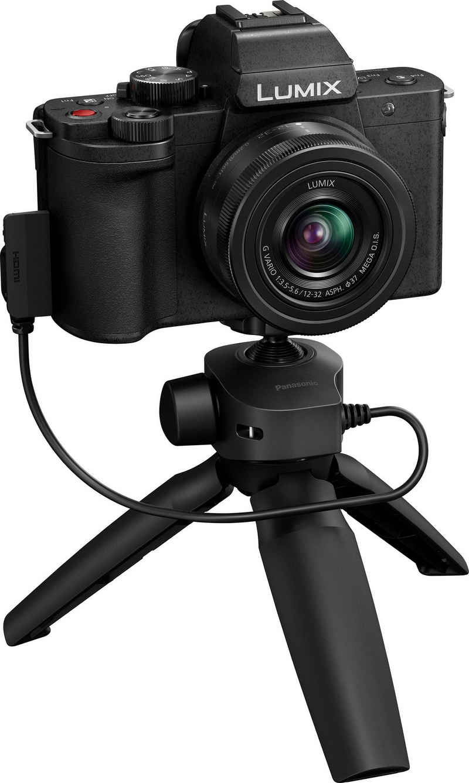 Lumix Panasonic »LUMIX DC-G110VEG-K« Systemkamera (LUMIX G VARIO 12–32mm / F3,5–5,6 ASPH. /MEGA O.I.S., 20,3 MP, Bluetooth, WLAN (WiFi)