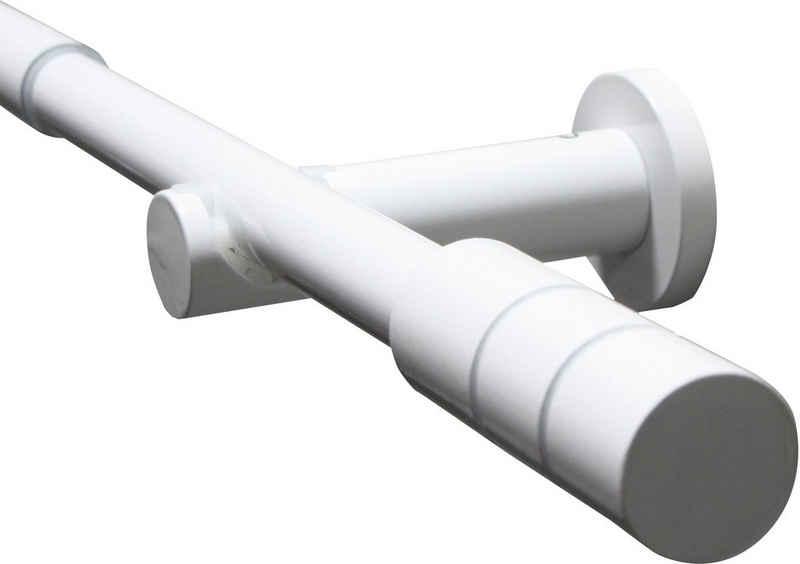 Gardinenstange »Gardinenstangen Set Metall«, GARDINIA, Ø 19 mm, 1-läufig, ausziehbar, Serie Kreta Zylinder