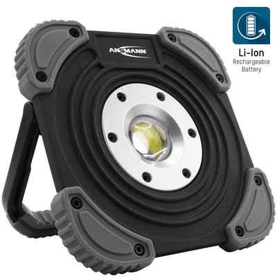 ANSMANN® LED Baustrahler »LED Baustrahler mit Akku 1400 Lumen, 10W - aufladbar & dimmbar, IP64«