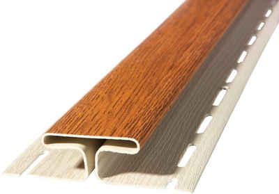 Baukulit VOX Verbindungsprofil »SOFFIT Golden Oak« (Set, 2er-Set), für Dachüberstand, je 1,525 m