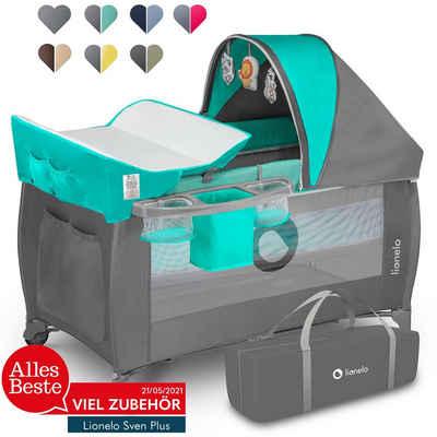 lionelo Baby-Reisebett »LO-SVEN PLUS«, ab Geburt bis 15kg mit Zubehör
