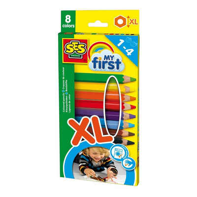 SES Creative Lernspielzeug »Dicke Buntstifte XL MyFirst SES« (8-St)