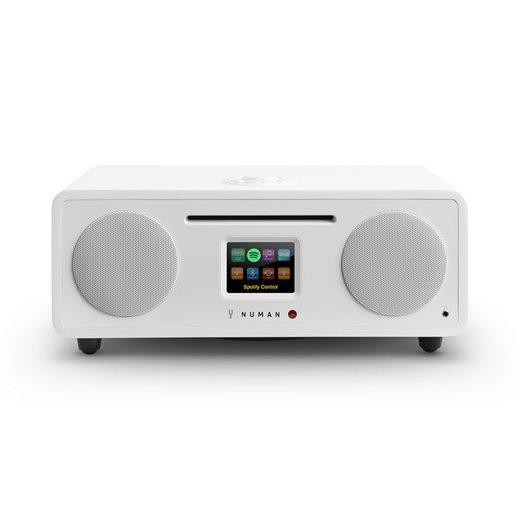 NUMAN »Two - 2.1 Internet-Radio CD 30W USB Bluetooth Spotify Connect DAB+ weiß« Radio (DAB+/UKW Radio, WiFi-Radio, 20 W)