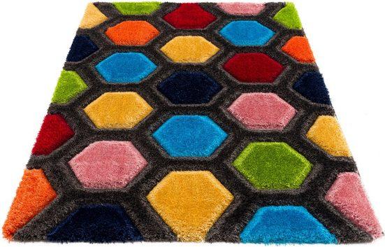 Hochflor-Teppich »Bras«, my home, rechteckig, Höhe 43 mm, mit 3D Efeckt