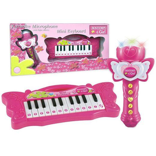 Bontempi Spielzeug-Musikinstrument »iGirl Keyboard + Karaoke Mikrofon«