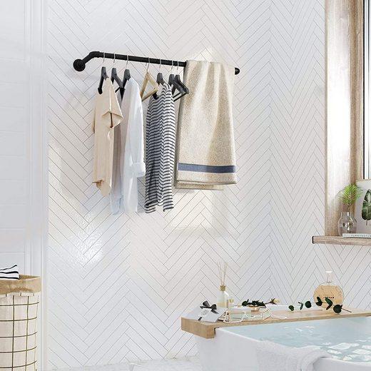 SONGMICS Kleiderstange »HSR67BK«, Kleiderstange für die Wand, Industrie-Design, schwarz