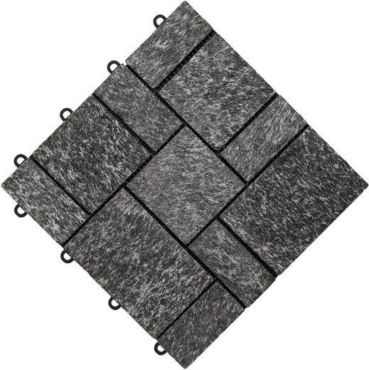 FLORCO Klick-Fliesen »stone«, 4 Stück á 30x30 cm, Quarz