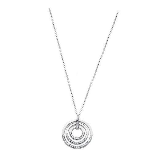 LOTUS SILVER Silberkette »JLP1755-1-1 LOTUS Silver Kreise Halskette weiß« (Halsketten), Damen Kette Kreise aus 925 Sterling Silber, weiß, silber