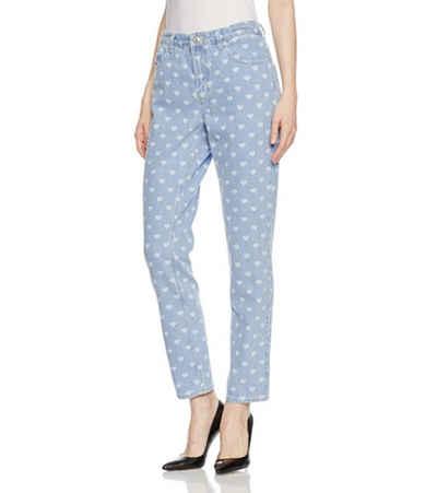 Diesel Regular-fit-Jeans »DIESEL Hose gerade geschnittene Damen Jeans mit Herzchen-Print Freizeit-Hose Hellblau«