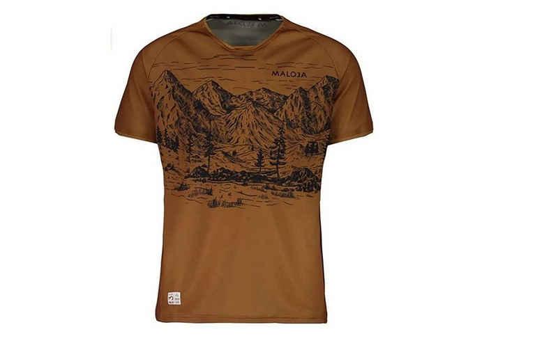 Maloja Funktionsshirt »Maloja Bike Shirt Serlasm braun«