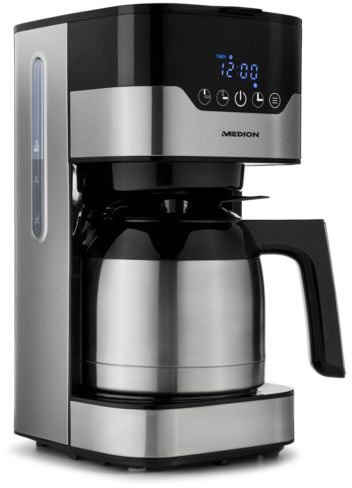 Medion® Filterkaffeemaschine MD 18458, 1,2l Kaffeekanne, Papierfilter 1x4