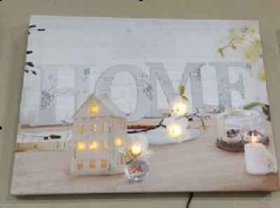 JOKA international Leinwandbild »LED Leinwandbild Home«