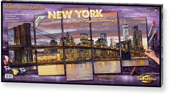 Schipper Malen nach Zahlen »Meisterklasse Polyptychon - New York Morgendämmerung«, Made in Germany