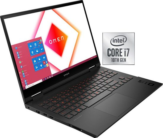 HP 15-ek1060n Notebook (39,6 cm/15,6 Zoll, Intel Core i7, GeForce RTX™ 3060, 1000 GB SSD, Kostenloses Upgrade auf Windows 11, sobald verfügbar)