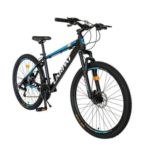 CARPAT Mountainbike »29 Zoll Herren Damen Fahrrad MTB Hardtail«, 21 Gang Shimano Tourney TY-21 Schaltwerk, Kettenschaltung, (mit Aluminiumrahmen), Hydraulisches Scheibenbremssystem, mit ergonomischer Sattel