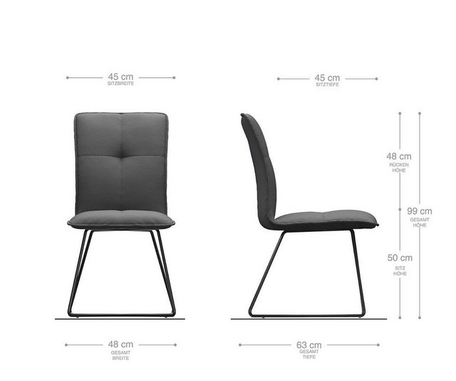 Stühle und Bänke - DELIFE Esszimmerstuhl Maddy Flex Polsterstuhl  - Onlineshop OTTO