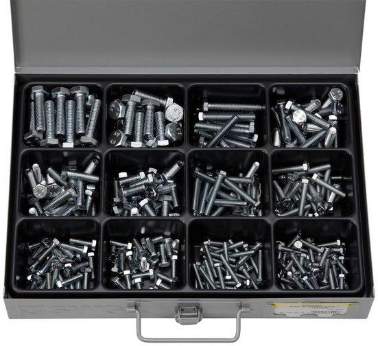 RAMSES Sortimentskasten , mit Stahlschrauben DIN 933 8.8 VZ, 280 Teile
