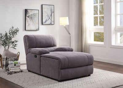 ATLANTIC home collection Loveseat, inklusive verstellbarer Rückenlehne und Stauraum