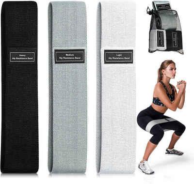 ANVASK Resistance Band 3-tlg Widerstandsbänder Fitnessband Trainingsband Loop-Band für 3 Widerstandsstufen für Hintern und Beine Fitnessband