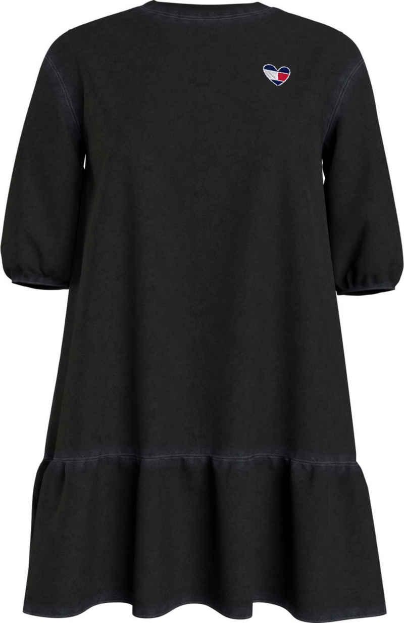 Tommy Jeans Jerseykleid »TJW Homespun Heart Tee Dress« mit Volant am Saum & Tommy Jeans Logo in Herzform