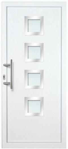 KM MEETH ZAUN GMBH Kunststoff-Haustür »KT235«, BxH: 98x198 cm, weiß, Anschlag links