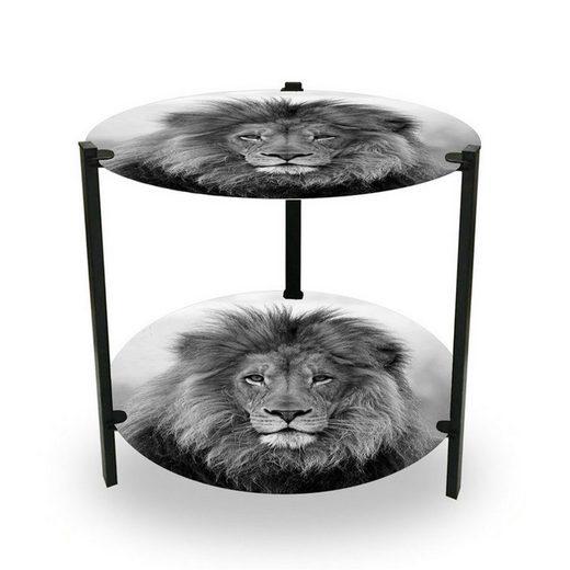 HTI-Line Beistelltisch »Beistelltisch Duo Wildlife Löwe«, 2 Ablageflächen