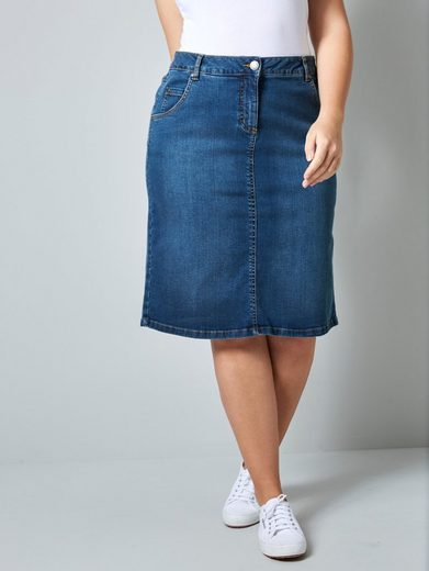 Janet & Joyce by Happy Size Jeansrock in 5-Pocket-Form