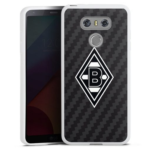 DeinDesign Handyhülle »Borussia Raute Carbon« LG G6, Hülle Gladbach Borussia Mönchengladbach Carbon