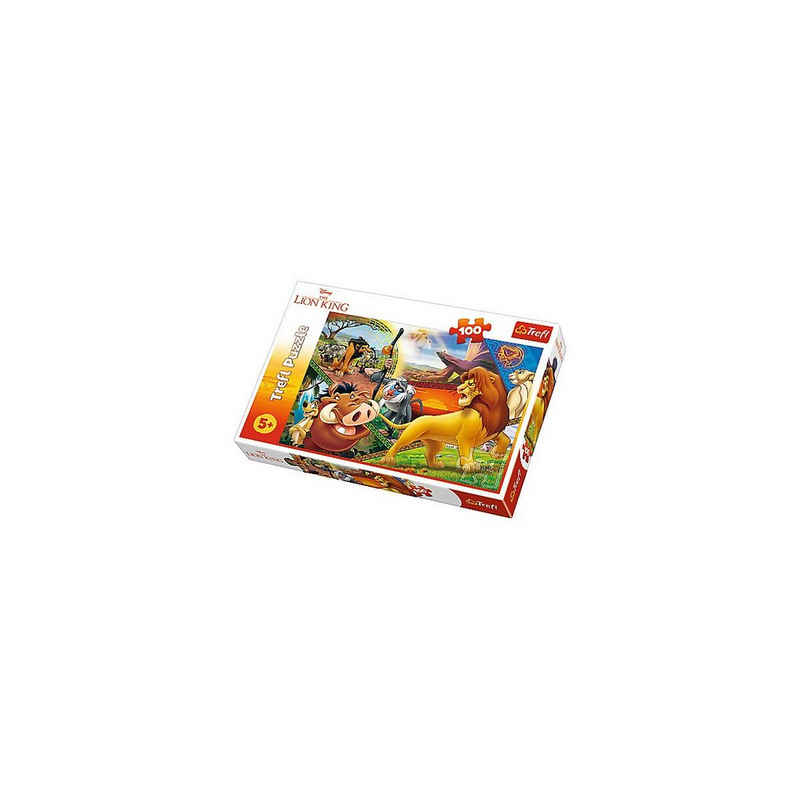 Trefl Puzzle »Puzzle 100 Teile - Der König der Löwen«, Puzzleteile