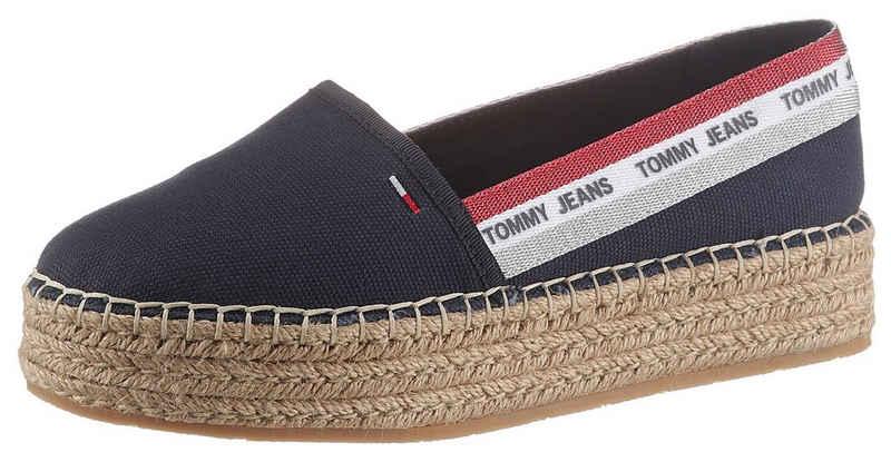 Tommy Jeans »TOMMY JEANS FLATFORM ESPADRILLE« Espadrille mit Kofferbandverzierung