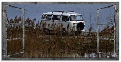 Artland Glasbild »Fensterblick - Hinterm Schild«, Fensterblick (1 Stück)